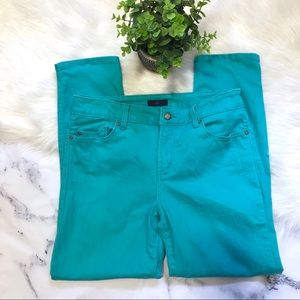NYDJ Jeans Size 8 Teal Green